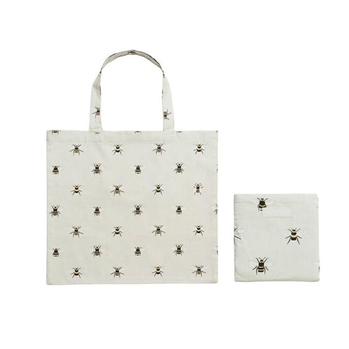 Sophie Allport Folding Shopper Bag in Bee Print