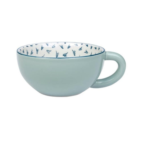 Sophie Allport Garden Birds Coffee Cup with Green Outer