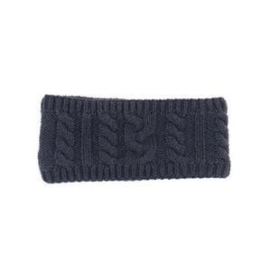 HyFASHION Meribel Cable Knit Headband in Navy