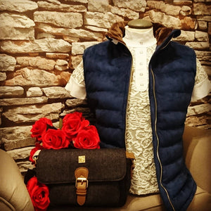 Sporting Hares country gilet in navy