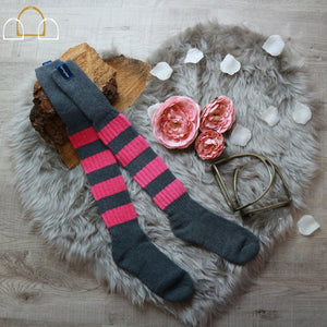 wellie socks pink