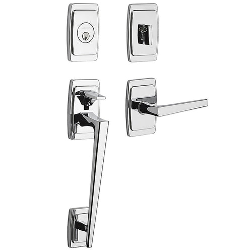 Baldwin Palm Springs Sectional Handleset Polished Chrome Left Hand Door Model # 85395260LENT