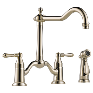 Tresa Two Handle Bridge Kitchen Faucet w/ Spray