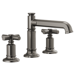 Invari Widespread Lavatory Faucet With Column Spout & Cross Handle Kit