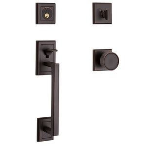 Baldwin Hollywood Hills Sectional Handleset Venetian Bronze Single Cylinder Model # 85310112ENTR