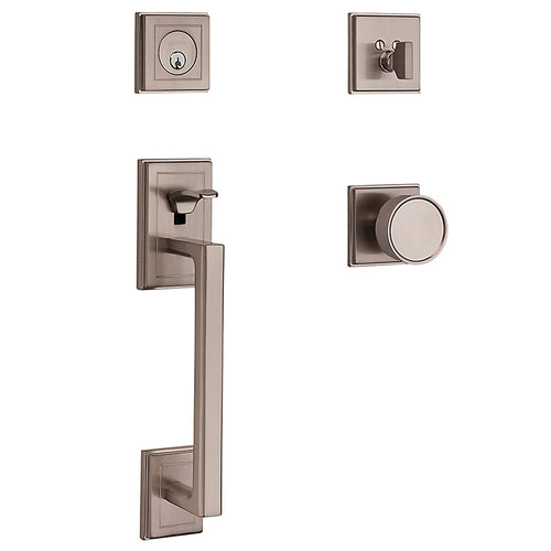 Baldwin Hollywood Hills Sectional Handleset Satin Nickel Single Cylinder Model # 85310150ENTR