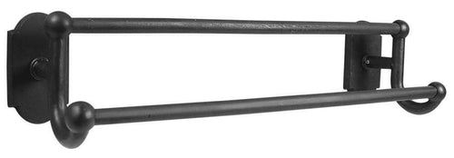 Emtek Sandcast Bronze Double Towel Bar 24