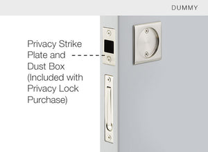 Pocket Door Tubular Lock - Square