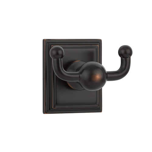 Emtek Traditional Brass Double Hook with Rosette Option  Model #: 2609