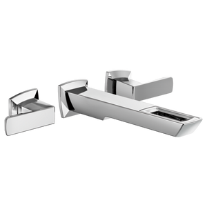Brizo Vettis Two Handle Wall Mount Lavatory Faucet with Open-Flow Spout