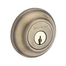 Baldwin Traditional Round Deadbolt Single Cylinder Matte Brass & Black Model # SC.TRD.049