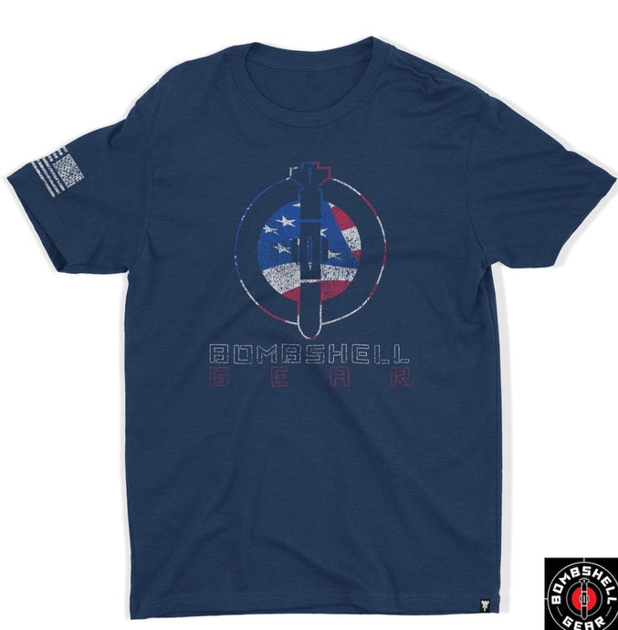 Men's Tshirt - Red, White & Blue