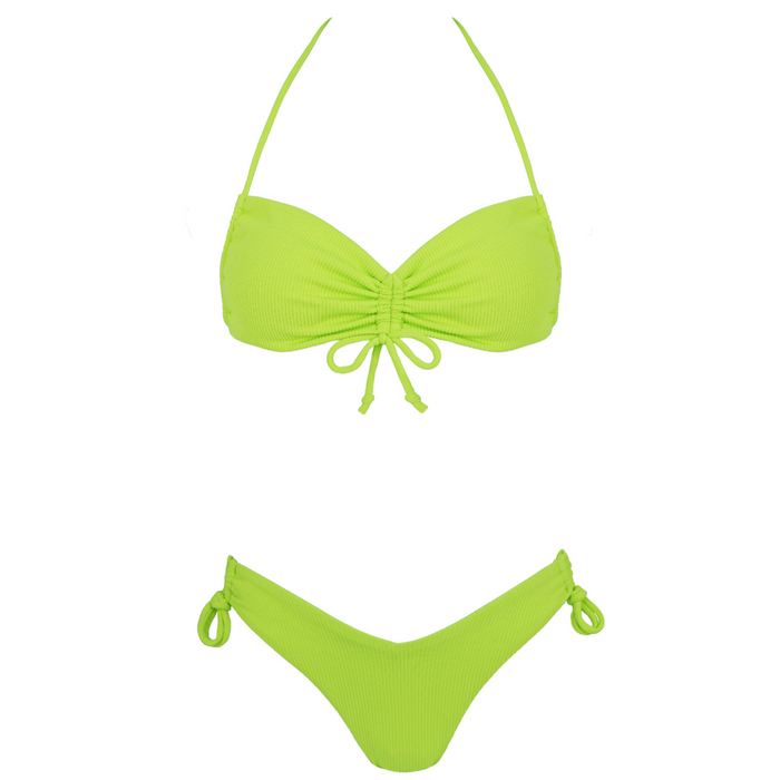 SOFIA Ribbed Bikini Set - Citrus Love