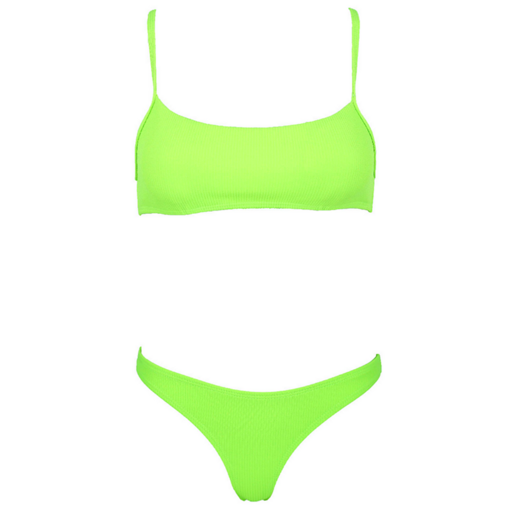 CHARLIE Ribbed Bikini Set - Citrus Love
