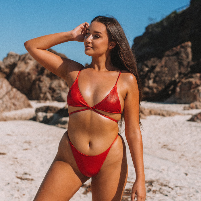 PENELOPE Bikini Set - Scarlet Red