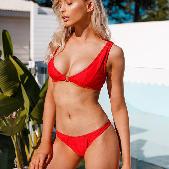 STASSI 2-Way Top - Scarlet Red