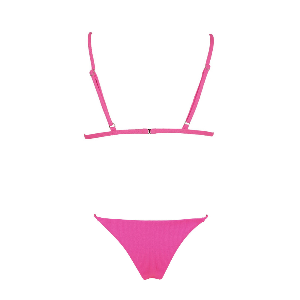 ISLA Ribbed Bikini Set - Candy Pop