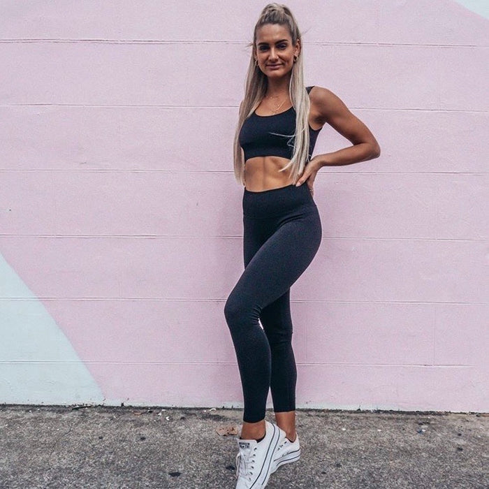 EBONY Ribbed Seamless Leggings