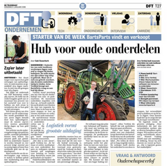 "BartsParts in Dutch newspaper ""De Telegraaf"""