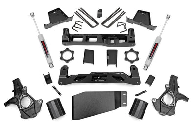 "2007-2013 GMC 1500 Sierra DENALI All Wheel Drive 7.5"" Rough Country Suspension Lift Kit w/Premium N3 Shocks INCLUDES Front CV Shaft to Eliminate AWD Vibration - ONLY $1280 to INSTALL"