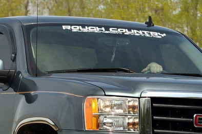 Rough Country Window Decal - WHITE 35""