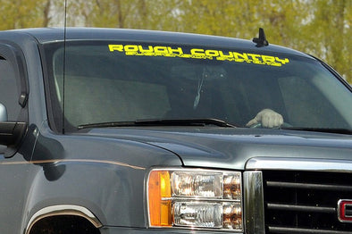 Rough Country Window Decal - YELLOW