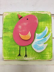 Thumbprint Bird Block by Binki Creations