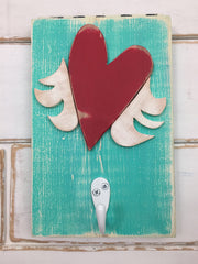 winged heart single hook binki creations