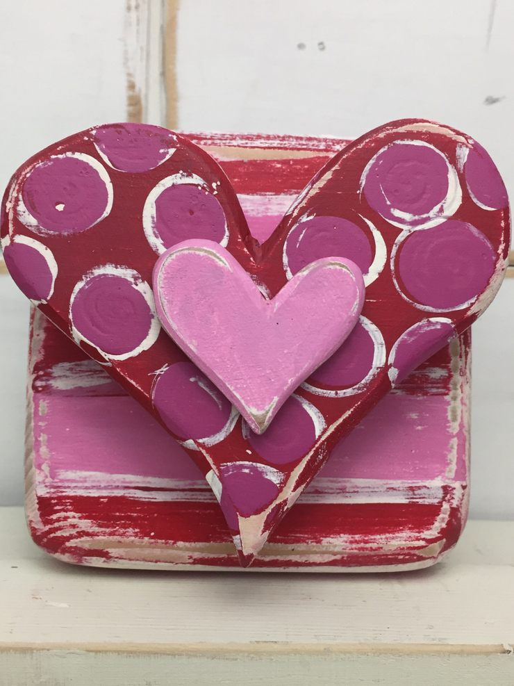 Pink Heart Block Binki Creations by Mary Beth