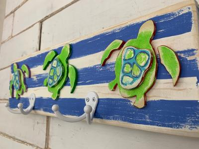 Sea Turtle Wall Hook - Double by Binki Creations