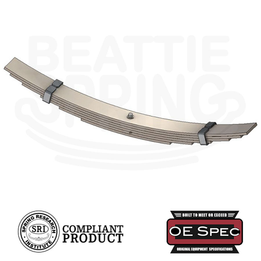Heavy & Medium Duty Semi / Dump Truck Overload Helper Leaf Spring (Rear, 6 Leaves)