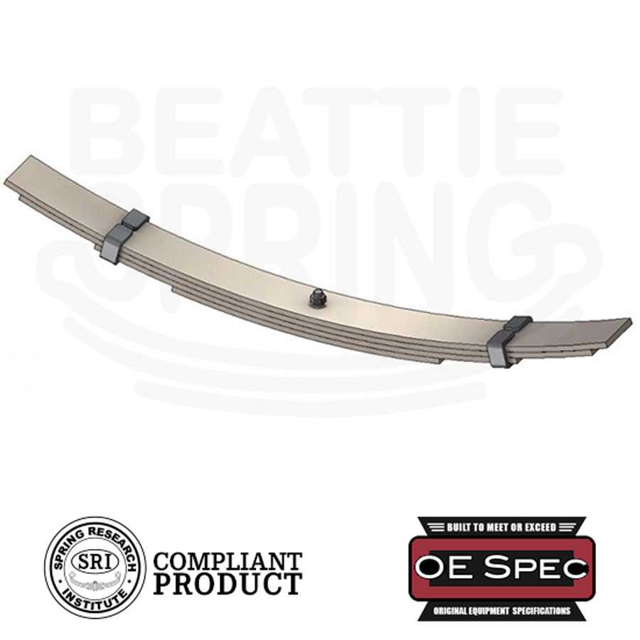 Heavy & Medium Duty Semi / Dump Truck Overload Helper Leaf Spring (Rear, 4 Leaves)