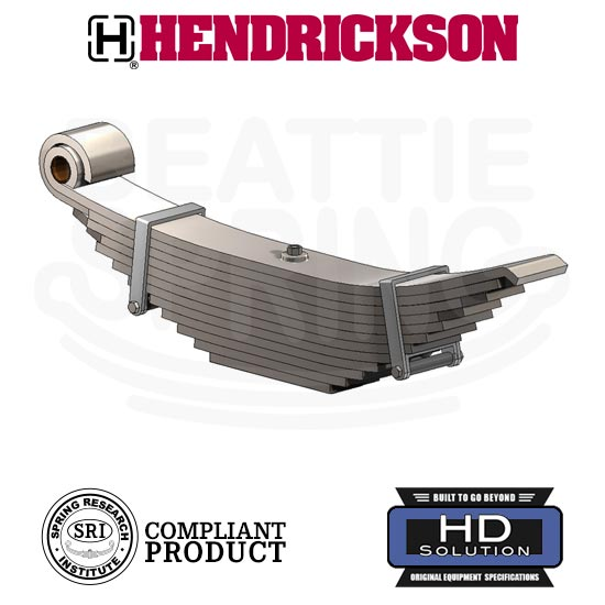 Hendrickson Walking Beam Suspension Leaf Spring 12 Leaf Super Heavy Duty Version