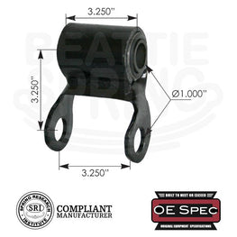 "International - Front Spring Shackle for 3"" Wide with Rubber Bushings"