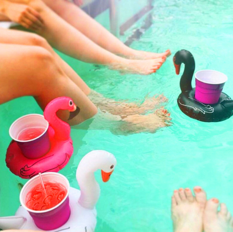 Inflatable Black Swan Drink Holder - 1 Piece
