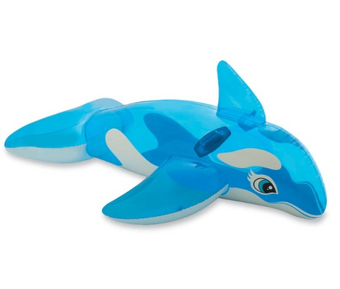 175cm/69inch Giant Inflatable Whale Pool Float - Blue