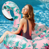 Image of Colorful Floral Swan Inflatable Float [Limited Edition]