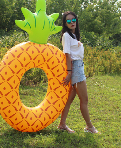 Inflatable Swim Ring Pineapple