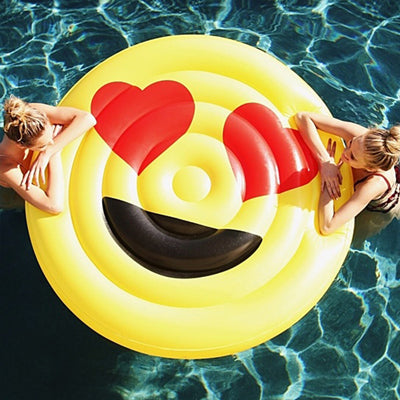 150cm Giant Hearteyes Emoji Pool Float