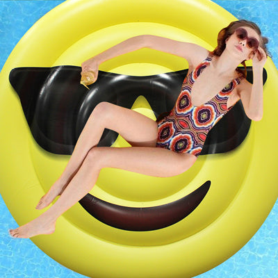 150cm Giant Sunglasses Emoji Pool Float