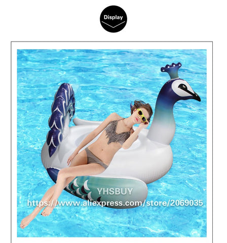Inflatable Peacock Pool Float