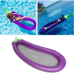 250x100cm PVC Inflatable Mat Giant Eggplant