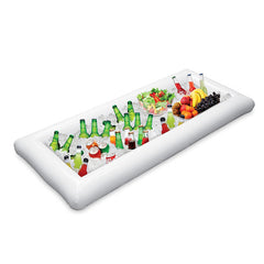 Inflatable Beer Cooler Table Pool Float 134x64cm
