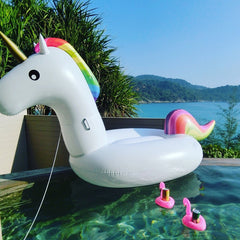 150cm/60Inch Giant Inflatable Unicorn Pool Float