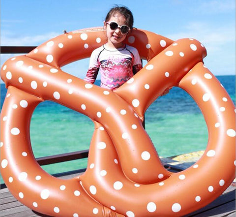 Inflatable Pretzel Bread Pool Float - Regular Pretzel