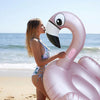 Image of Rose Gold Giant Inflatable Flamingo Pool Float