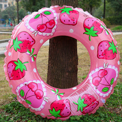 Inflatable Fruit Swim Float 80cm - Cherry and Strawberry