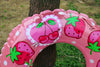 Image of Inflatable Fruit Swim Float 80cm - Cherry and Strawberry