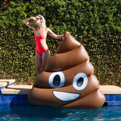 Giant Inflatable Classic Poop Emoji Float