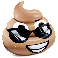 Inflatable Sunglasses Poop Emoji Float